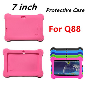 Soft Silicone Case Shockproof Cover For 7 Inch Kids Education Tablet PC Q88 A33 Quad Core Tablet PC shock resistant Colors