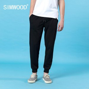 SIMWOOD spring summer new sweatpants men letter embroidery trackpants ankle-length jogger drawstring casual pants 200925