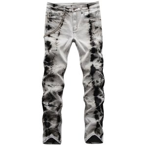 High Street Fashion Mens Jeans Locomotive Jeans 2020 nuovi uomini pantaloni skinny Hip Hop denim pantaloni \