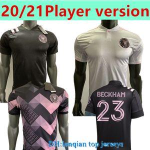 Player Version2020 21 Новый Интермета Майами Socer Jersey Home Away Black Black Beckham Julián Carranza Ben Phot Pellgrini MLS CF Футбольные рубашки