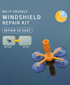 Nueva Parabrisas Fix Tool Set de cristal del parabrisas reparación de reparación de parabrisas kit de reparación de herramientas de la ventana de cristal juego de pulido
