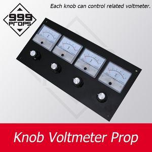 Bouton Voltmètre Prop véritable salle d'échappement tourner tous les boutons à la position droite pour pointer chiffres correct prop jeu d'aventure 999PROPS
