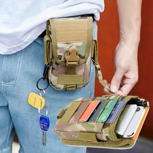 Tactical Belt Bag Molle Pouch Men Camouflage Outdoor Hiking Travel Portable Large Capacity Mens Phone Case Card Holder