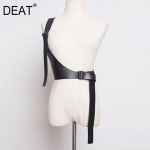 DEAT 2020 New Spring Fashion Women Strap Belt Solid Color Elastic Single Shoulder Strap Female Tide PD138
