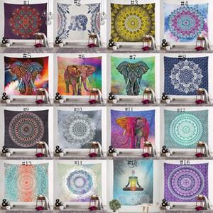 150 * 130cm Bohemian Goblen Mandala Plaj Havlusu Dekor 40 tasarım OWA1453 asılı hippi Atma Yoga Minderi Havlu Hint Polyester duvar Blanket