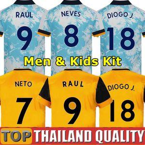 20 21 الذئاب كرة القدم بالقميص CUTRONE RAUL NEVES 2020 2021 ولفرهامبتون PODENCE نيتو قميص كرة القدم DIOGO J. الرجال عدة أطفال زي