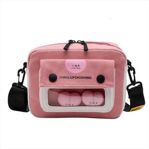 2019 Lovely Small Handbag Chicken Canvas Crossbody Shoulder Bags Flap For Summer Pink Mini Bag Lady Women Girl Messenger Candy