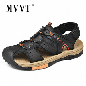 Size 45 Genuine Leather Outdoor Sandals Men Hand Made Summer Beach Sandals Casual UYZV#