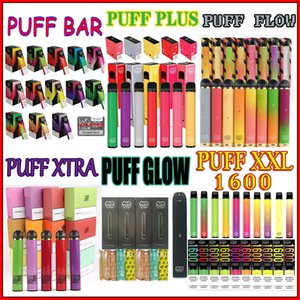 In magazzino Puff Series monouso Vape PEN E-sigaretta portatile Dispositivo vaporizzatori del vapore Per PUFF BAR PLUS XTRA FLUSSO GLOW XXL 1600 ha un buon prezzo
