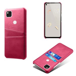 Applicable to Google 4A mobile phone case card protection cover Google Pixel 4A calf anti-fall back cover