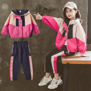 Cool Girls Outdoor Jackets and Pants Fashion School Kids Hoodie Trousers Autumn Hip Hop Trendy Coat Clothing Set Popping Clothes X0923