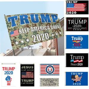 Yeni 2020 Trump Bayraklar 90 * 150cm Kamuflaj ABD Başkanı Seçim Bayrakları Amerika Büyük Yine Trump Başkan Kamuflaj Banner Flags olun HH9-3329