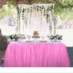 Wedding Table Skirt Table Decoration Accessories Tulle Tutu Table Skirt Baby Shower Birthday Party Decorations Kids Party Supplies