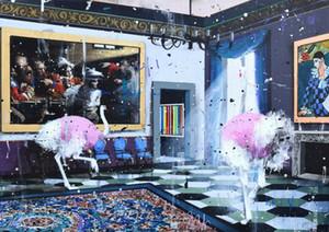 Angelo Accardi Misplaced decorazione domestica dipinta a mano HD Stampa della pittura a olio su tela di canapa di arte della parete della tela di canapa Immagini 200916