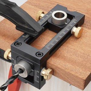 De tratamento de madeira 2 em 1 Broca perfurador posicionador Locator Jig para Berço cruz oblíqua de Cabeça Chata Puncher Bed Gabinete Screw