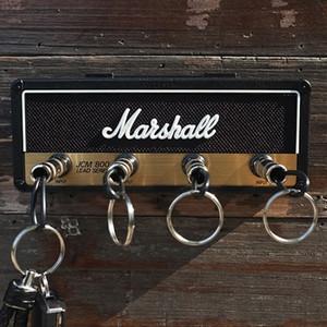 Titular Marshall clave de la roca de la guitarra eléctrica tecla de altavoz gancho colgante llavero clave de almacenamiento de la vendimia JCM800 1959SLP GP69 BALA