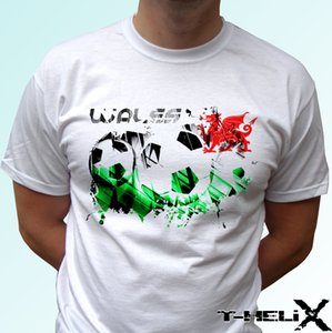 wales football flag - white t shirt top design mens womens kids baby sizes cool casual pride t shirt men unisex new fashion