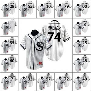 ChicagoWhite Sox Men # 10 Yoan Moncada 40 Lopez 74 Eloy Jimenez Benutzerdefinierte Frauen Jugend Weiß Turn Back the Clock 1990 Special Edition Jersey