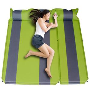 LEVORYEOU 2 + 1spliced açık kalın 3cm otomatik şişme yastık uyku pedi açık çadır kamp paspaslar yatak şilte 4 renk