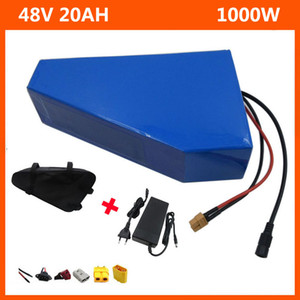 48V 1000W Треугольник Электрический велосипед лития батареи 13S 48V 20AH батарея 18650 батарея с зарядным устройством 30А BMS 54.6V 2A и батареи сумка Бесплатная доставка