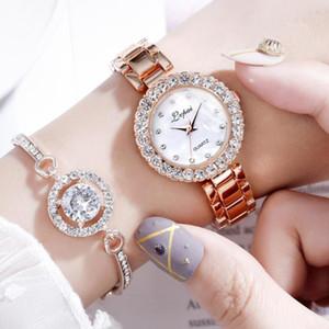 سوار الساعات الفاخرة مجموعة للنساء أزياء هندسية الإسورة الكوارتز ساعة اليد السيدات ووتش zegarek damski