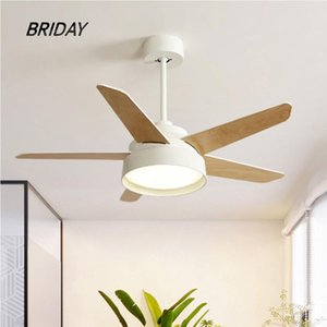 Macaron wooden led ceiling fan lamp with light remote control fans lamps lighting motor copper 42 inch 52 inch