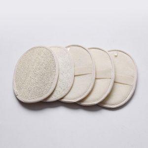 13 * 18 cm Forma oval loofah naturales almohadilla lavador eliminar el baño de piel de la cara ducha loofah esponja muerto HHF934