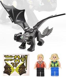 Figuren Montage Dragon DIY Puppe Gebäude Neuheit Dinosaurier Dinosaurier World Action Kinder Puzzle Ziegel Spielzeug Blöcke simuliert Vjoxp