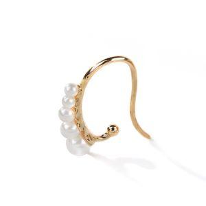 Минималистский Pearl Ear Cuff клип без пирсинга серьга Поддельного пирсинга Earcuff Женщина клипы Jewelry Нет Hole уха ювелирных изделий