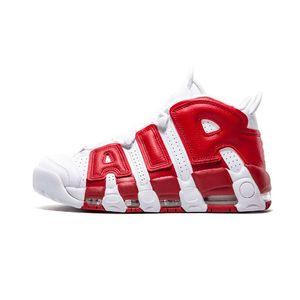 La alta calidad de aire más zapatos de baloncesto por Uptempo Hombres Mujeres 96 QS olímpica del equipo universitario Castaño 3M ENTRENADORES tamaño de las zapatillas de deporte 36-47 Deportes