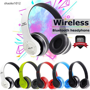 Sports P47 headphones bluetooth gaming headset noise reduction smart audio handsfree wireless foldable earphone with microphone