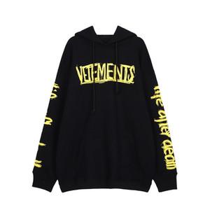 2020 Logo Outono Inverno Vetements Graffiti Big World Tour Bordados Moda Casual Wear com capuz Homens Mulheres Roupa Hoodie Algodão