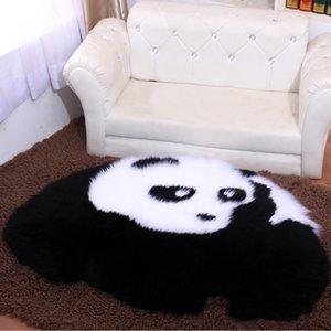 Black White animal bonito de lã da pele do falso da pele de carneiro Rug Mat Fluffy Plush Shaggy Tapete Bedroom Quente Capacho Panda / urso / Sheep