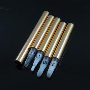 Бутылки для хранения JARS 3ML Золотая пластиковая косметика для губ Глянцевая тушь / ресница, выращивающая жидкость / точечное / WHELK Удаление искусства ногтей зуд