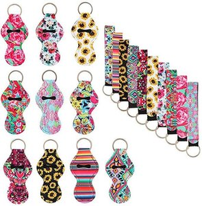 Neoprene Lipstick Protective Cases Cover Portable Balm Holders with Neoprene Wristlet Lanyards DHC833