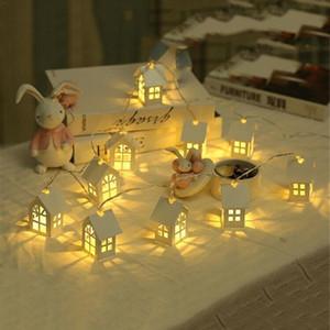 Cgjxs New Led Garland Wood House String Licht 2m 10leds Raum-Dekor-String-Lampe Hochzeitsfest-Feiertags-Fee Lichter Neuheit-Lampe