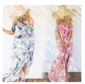 Elbiseler Moda Kısa Kollu Uzun Günlük Elbiseler Kadın Tasarımcı Lüks Giyim Boyun Split Yaz Womens Slash
