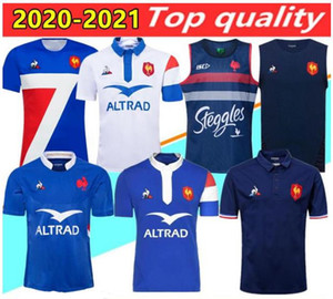 Nuevo estilo 2020 2021 Francia Super Rugby Jerseys Camisa Tailandia Calidad Francia Rugby Maillot De Foot Francés Boln Rugby Camisetas Chaleco