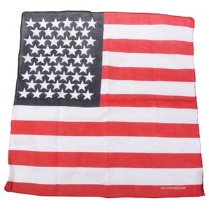 Handkerchief   Bandana for Head Hair US Flag Design