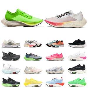 nike air zoom vaporfly Next% 2021 En Kaliteli Buharlık Sonraki Erkek Kadın Koşu Ayakkabıları Volt Olun Gerçek Navyy Mavi Üçlü Siyah Ribbon Spor Eğitmenleri Sneakers 36-45