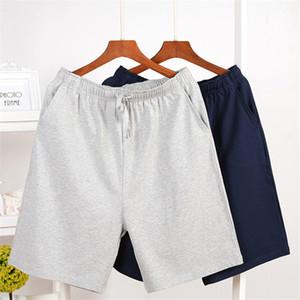 Pijama Pantolon Artı boyutu MA70004 Dış Mens Pamuk Pijama Katı Gevşek pijamalar Şort Yaz Erkekler Uyku Bottoms Ev Giyim