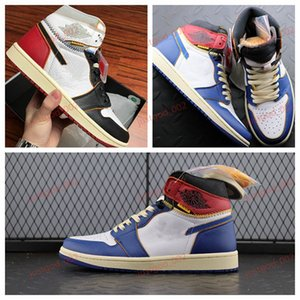 casual shoesxshfbcl High Quality Union LA x 1 High OG NRG White Storm Blue Varsity Red Wolf Grey Basketball Shoes Men 1s Sneakers