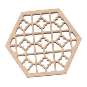 Durable Polished Candlenut Wood Hexagonal Erhu Sound Hole Decoration Sound Window