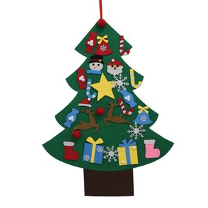 DIY Felt Christmas Tree Artificial Tree Wall Hanging Ornaments Christmas Decoration for New Year Gifts Kids Toys Home C0923