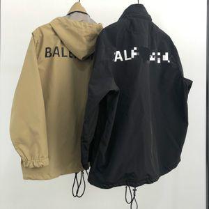 20ss unisex uomo autunno inverno hoodie di sport retrò lettere di marca a vento stampa digitale all'aperto giacche funzione antivento impermeabile
