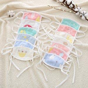 0-7 anos de bebé idoso Máscara Multi-Layer gaze de algodão lavável Dustproof vento Smog Crianças Máscara Homens e mulheres XD23601