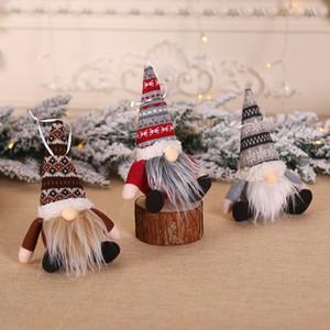 Мультфильм рождественские украшения куклы творческой сидячей позе лес кукла Мультфильм Рождественская елка Подвеска мини безликой куклы кулон T9I00552