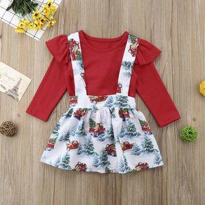 Christmas Toddler Kid Baby Girl Xmas Festival Flared Party Santa Swing Dress