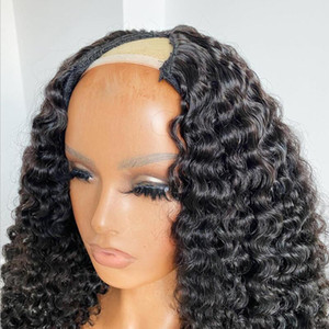 Magic Love U Part Wig Natural Curly Wig Human Hair Wigs Pre Plucked Brazilian Remy U Part Wigs For Women
