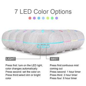 KBAYBO 550ml essenziale Diffusore olio di legno umidificatore bianco telecomando aromaterapia creatore della foschia luce principale di notte per la casa